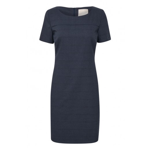 karen by simonsen kjole sydney checked blå tern-33
