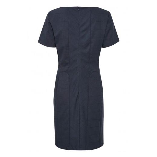 karen by simonsen kjole sydney checked blå tern-03