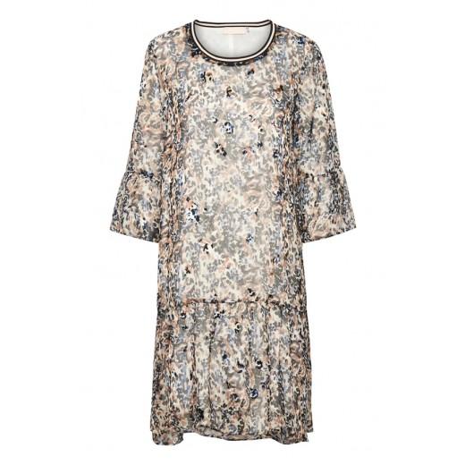 316104e93ecd smuk kjole fest blå brun sort karen by Simonsen silke