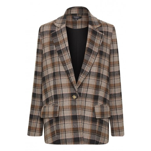 soaked in luxury blazer indie check-31