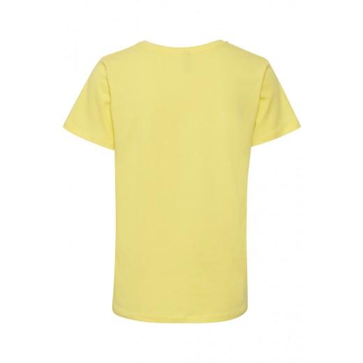 culture t-shirt Lip V gul-02
