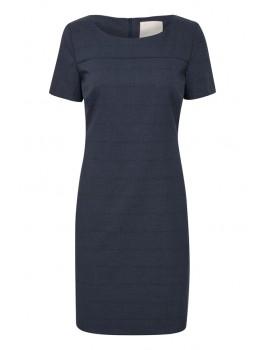 karen by simonsen kjole sydney checked blå tern-20